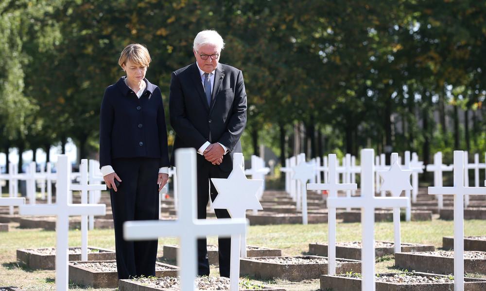 Gedenkstätte Gardelegen: Bundespräsident Steinmeier mahnt Demokratie und Menschenwürde an