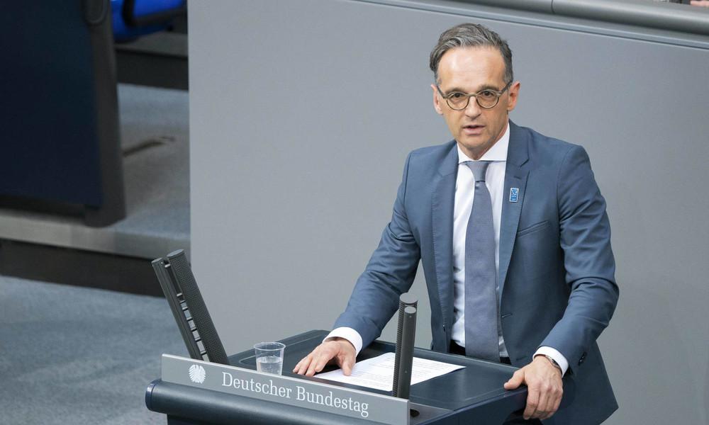 LIVE: Außenminister Maas im Deutschen Bundestag zur Situation in Belarus