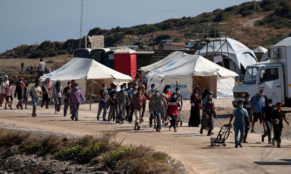 Eine Woche nach dem Brand in Camp Moria leben Migranten ohne Obdach