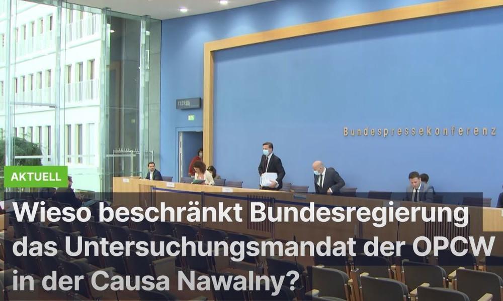Fall Nawalny: Warum beschränkt die Bundesregierung das Untersuchungsmandat der OPCW?