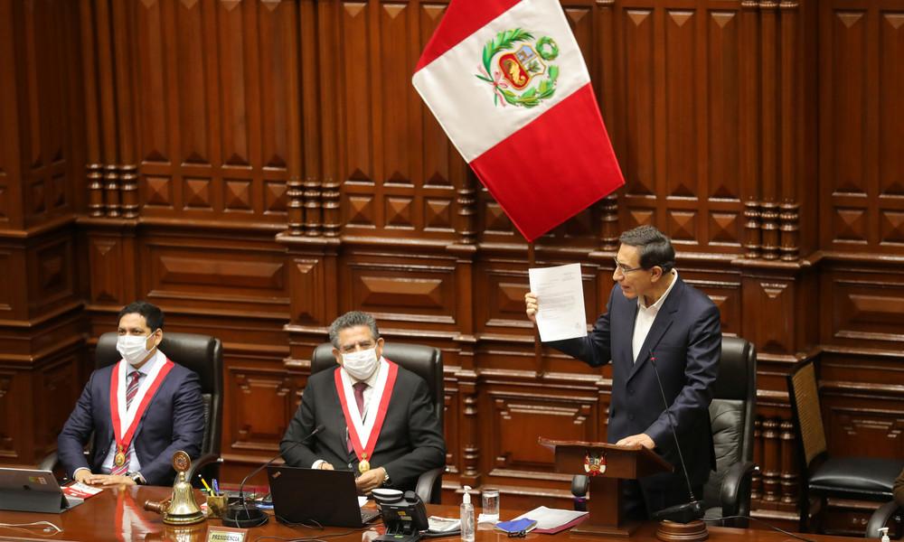 Peru: Parlament lehnt Amtsenthebung von Präsident Martín Vizcarra ab