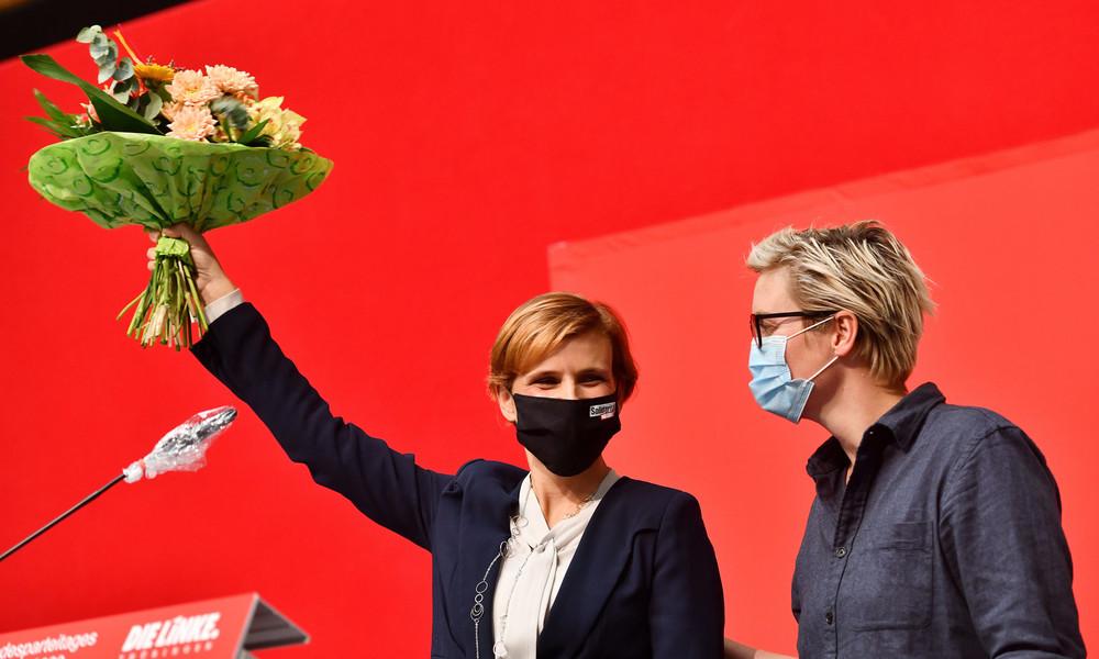 Linke-Parteitag in Thüringen: Hennig-Wellsow und Kipping werben für Regierungsbeteiligung