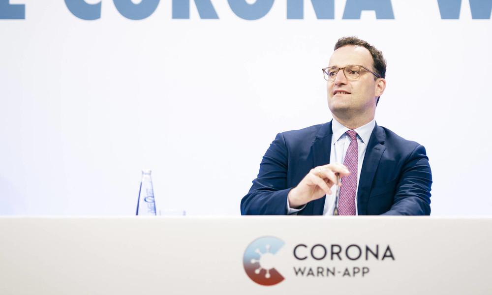 Pressekonferenz mit Bundesgesundheitsminister Jens Spahn zu 100 Tage Corona-Warn-App