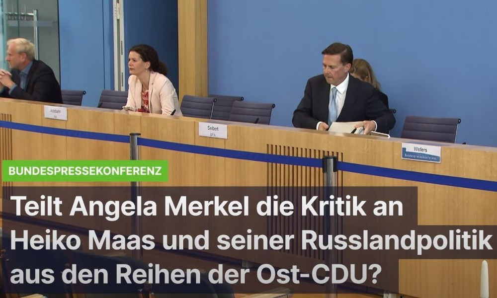 Teilt Bundeskanzlerin Merkel die Kritik an der eskalierenden Russland-Politik von Heiko Maas?