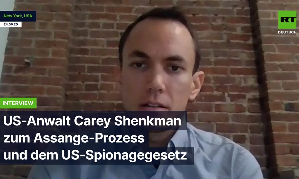"""""""Jeder Journalist in Gefahr"""": US-Anwalt Carey Shenkman zu Assange und dem US-Spionagegesetz"""