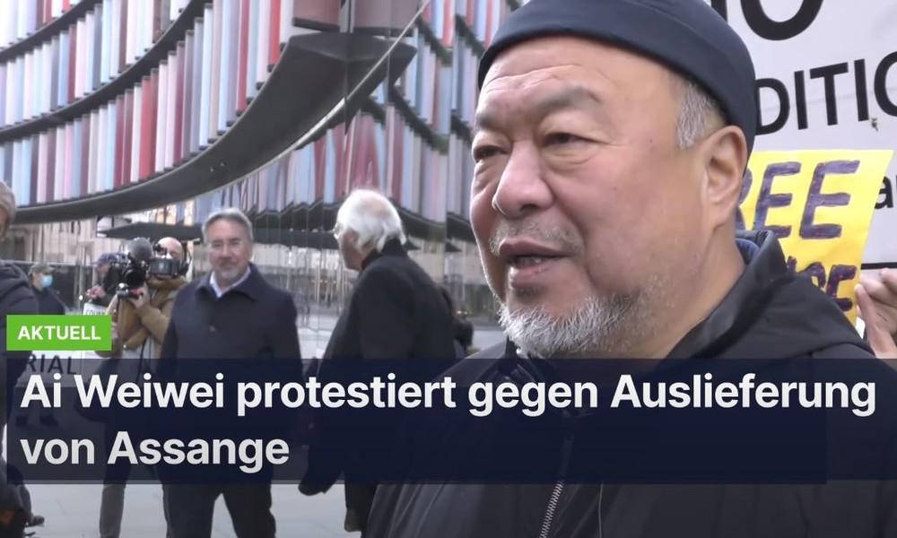 """Ai Weiwei protestiert gegen Auslieferung von Julian Assange: """"Er ist ein Held"""""""