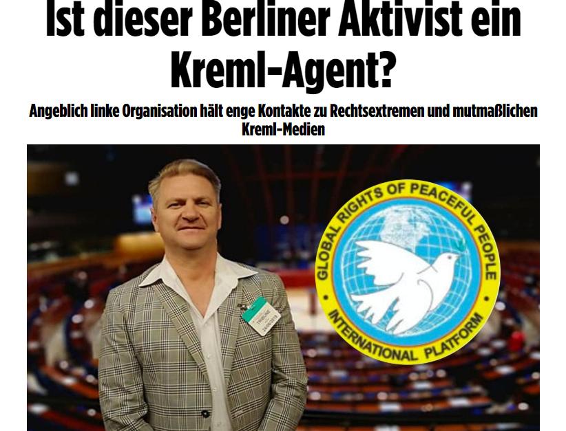"""""""Kreml-Agent?"""" – Politischer Flüchtling aus der Ukraine als Ziel einer Hetzkampagne der BILD-Zeitung"""
