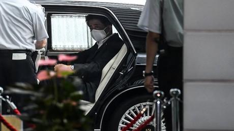 Abfahrt und Ende einer Ära – Shinzo Abe am 31. August in Tokio, Japan.