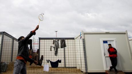 Aufnahme aus dem Flüchtlingslager Miral in Velika Kladusa, Bosnien und Herzegowina, 4. März 2020.