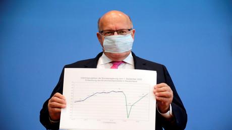 Bundeswirtschaftsminister Peter Altmaier präsentierte die Prognose der Bundesregierung zur wirschaftlichen Entwicklung für das Jahr 2020 am 1.9. in Berlin.