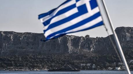 Griechisches Patrouillenboot vor der griechischen Insel Kastelorizo, 28. August 2020.