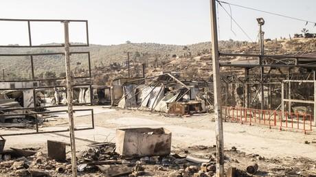 Das abgebrannte Migrantencamp Moria auf der griechischen Insel Lesbos (Bild vom 13. September).