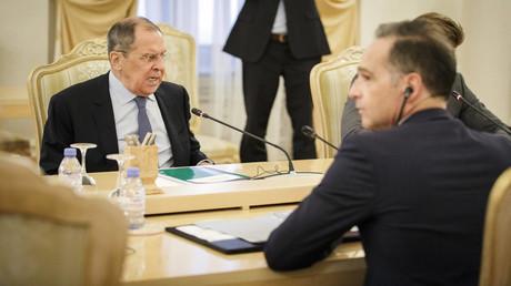 Das letzte Treffen der beiden Außenminister liegt nur einen Monat zurück: Heiko Mass und Sergej Lawrow in Moskau am 11. August