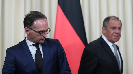Der russische Außenminister Sergei Lawrow und Bundesaußenminister Heiko Maas bei einem Treffen in Moskau am 21. August 2019