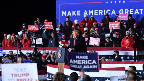 US-Präsident Donald Trump bei einem Wahlkampfauftritt in Mosinee/Wisconsin am 17. September.