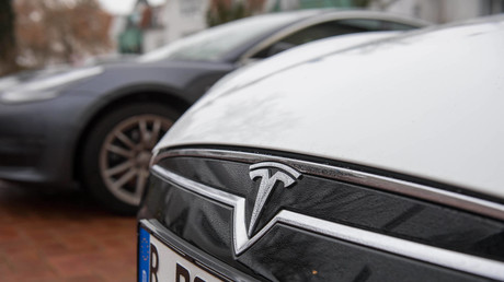 Ein Tesla-Wagen aus Berlin.