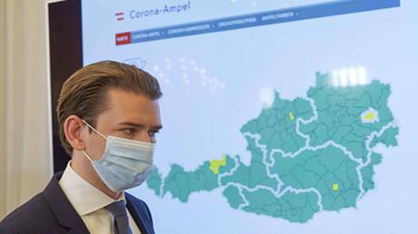 Der österreichische Kanzler Sebastian Kurz bei einer Pressekonferenz in Wien am 4. September 2020