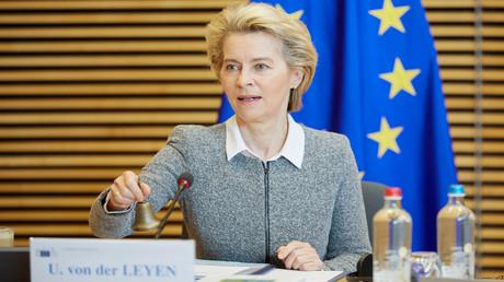Ursula von der Leyen, Präsidentin der EU-Kommission, am 2. September 2020 in Brüssel:  Nach der Sommerpause nahm die EU-Kommission ihre Arbeit wieder auf.