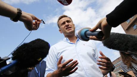 Wann kommt die Medienperson Alexei Nawalny in Deutschland zu Wort? Auf dem Bild: Nawalny während einer Demo in Moskau, Juli 2019.