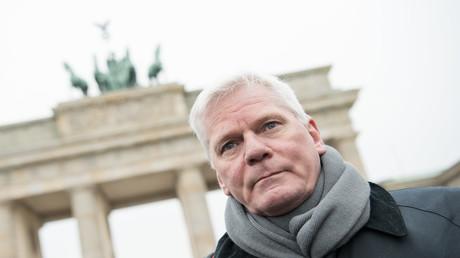 WikiLeaks-Chef Kristinn Hrafnsson in Berlin (Archivbild).