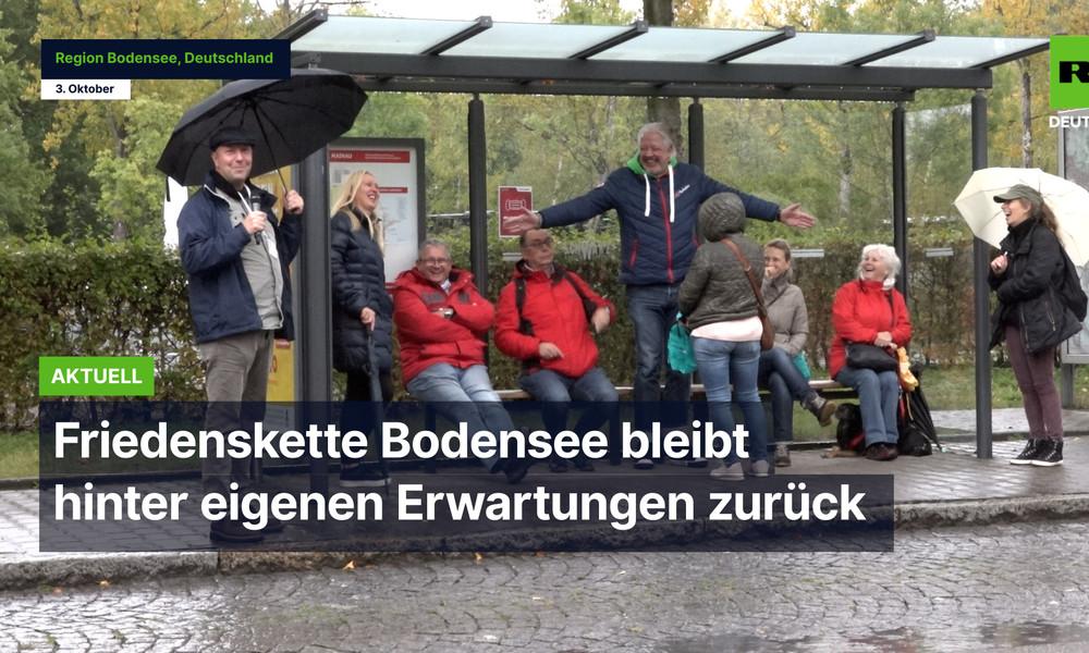 "Konstanz: ""Friedenskette"" gegen Corona-Maßnahmen bleibt hinter Erwartungen zurück"