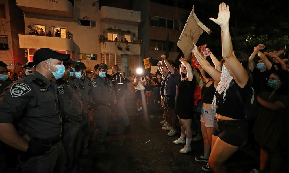 Israel: Dutzende Festnahmen bei Protesten gegen Benjamin Netanjahu trotz Corona-Auflagen
