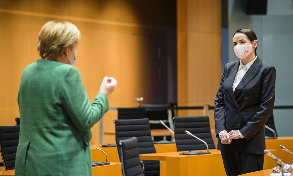 Alexander Rahr über Merkels Treffen mit Tichanowskaja: Sie will ihr liberales Gesicht zeigen