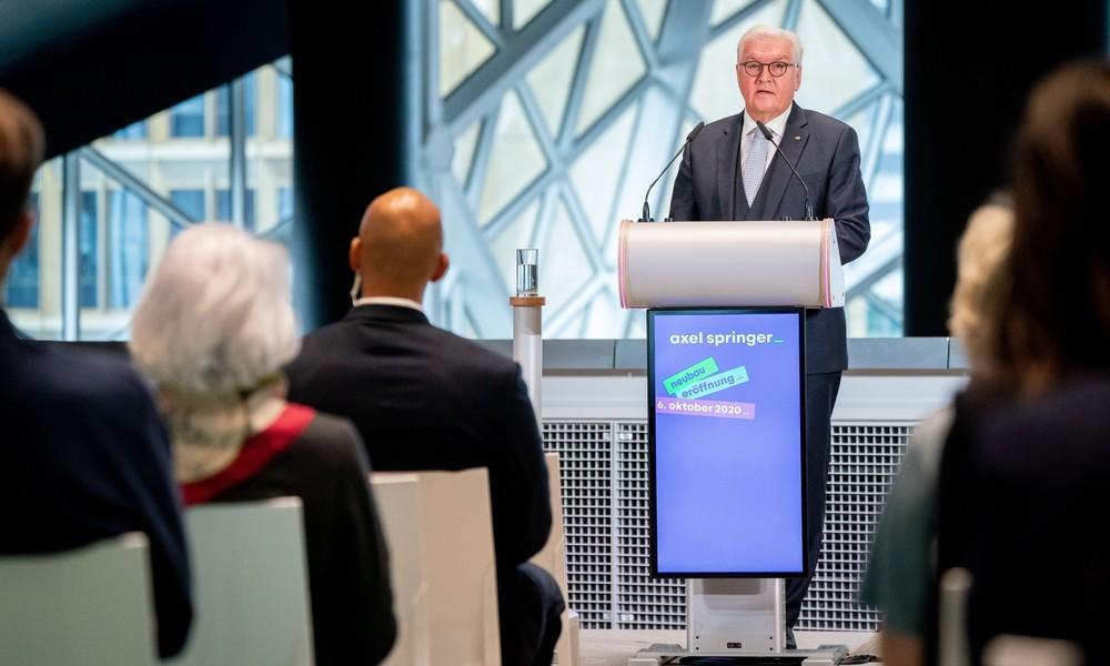 Steinmeier: Demokratie braucht Journalismus, der zur Aufklärung beiträgt