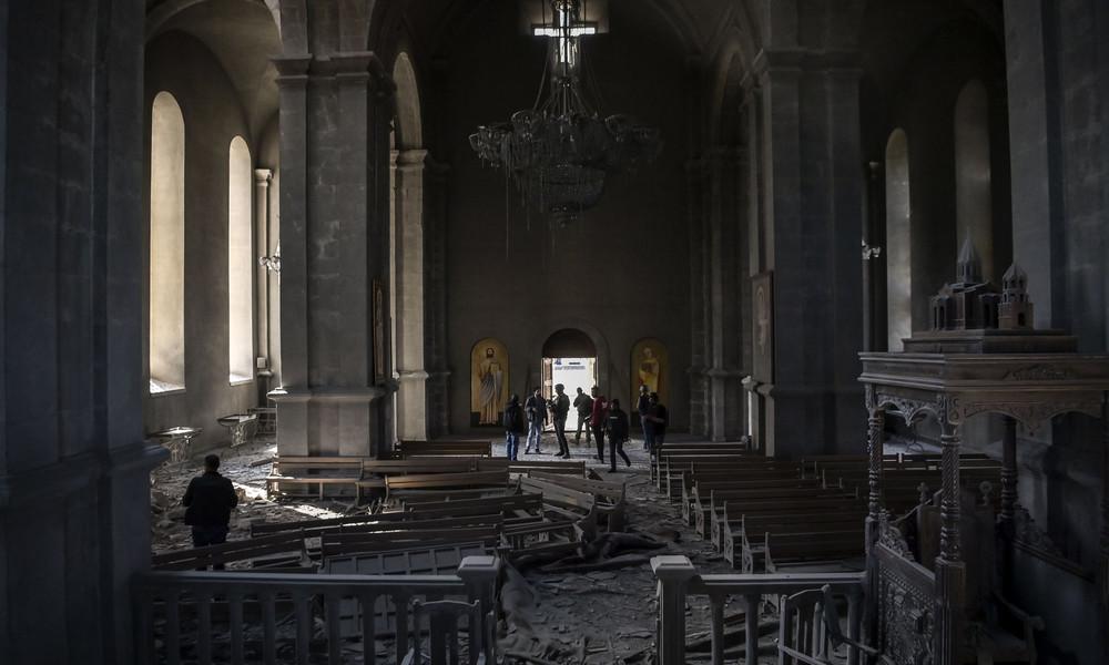 Bergkarabach: Armenische Kirche bei Luftangriff zerbombt – mehrere Menschen verletzt