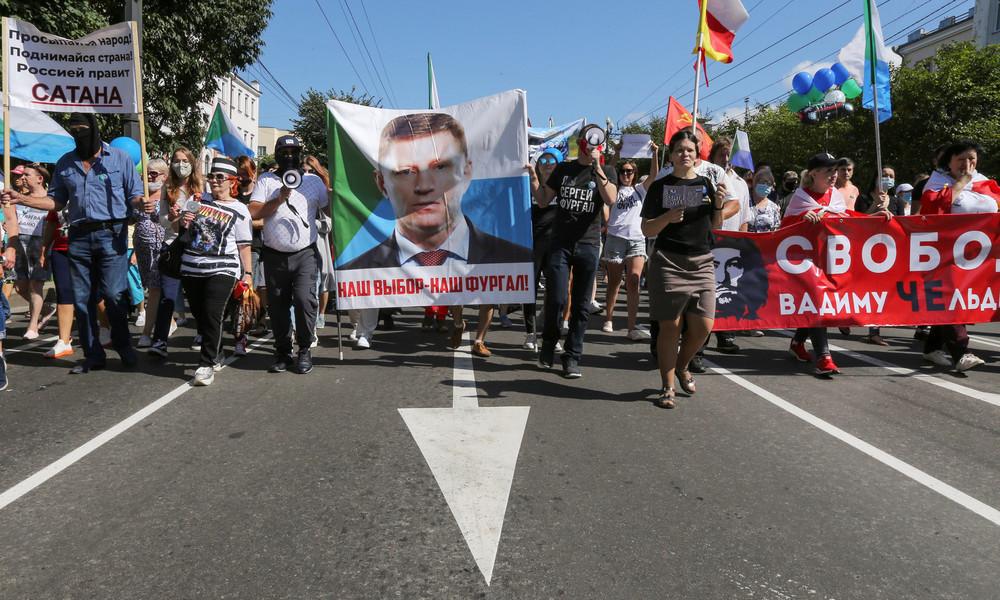 Russland: Erneut Demonstrationen in Chabarowsk zur Unterstützung des Ex-Gouverneurs Furgal