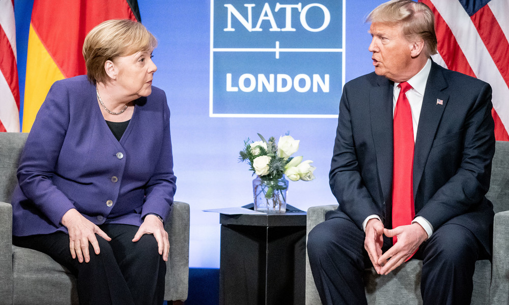 """""""Sie hat nur gelächelt"""": Trump erzählt, wie Merkel auf seine Kritik an Nord Stream 2 reagierte"""