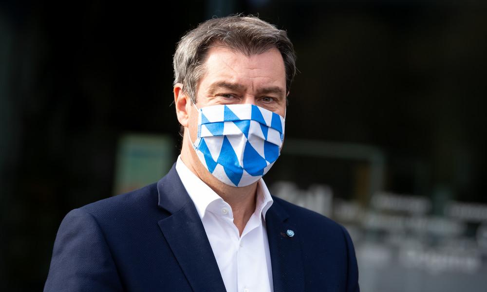 Maskenpflicht – Bayerns Ministerpräsident Söder für Bußgeld von 250 Euro bundesweit