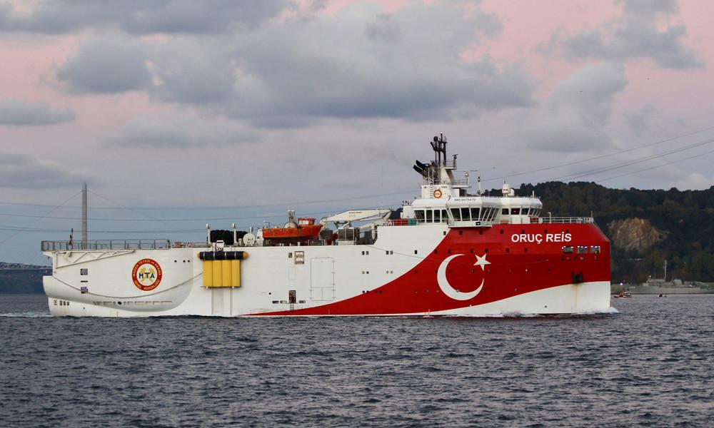 Trotz Streit mit Griechenland: Türkei entsendet Gas-Forschungsschiff erneut ins Mittelmeer