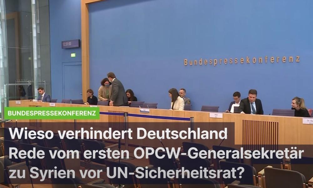 Wieso verhindert Deutschland die Rede des ersten OPCW-Generaldirektors vor UN-Sicherheitsrat?