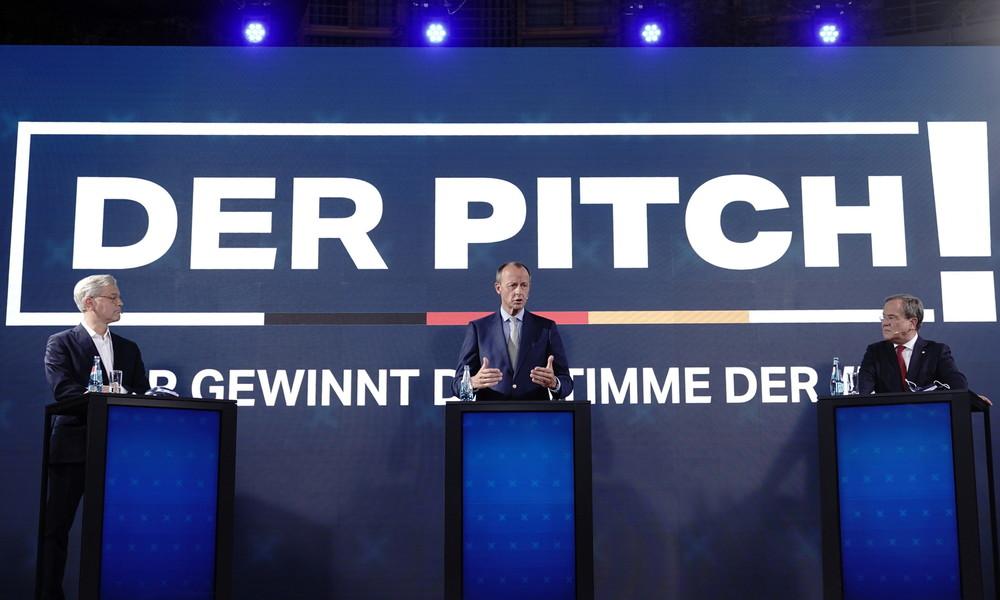 Rennen um CDU-Vorsitz: Laschet, Merz und Röttgen werben für sich bei Junger Union