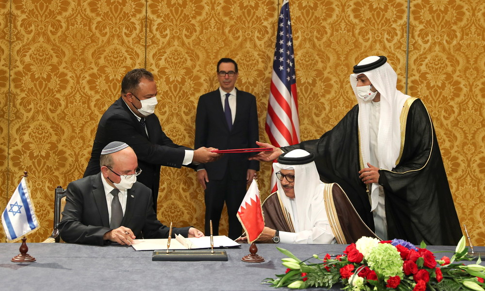 Israel und Bahrain unterzeichnen Abkommen zur Aufnahme diplomatischer Beziehungen