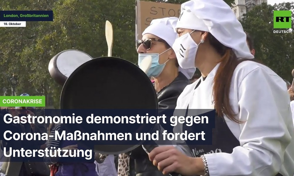 London: Gastronomie demonstriert gegen Corona-Maßnahmen und fordert Unterstützung