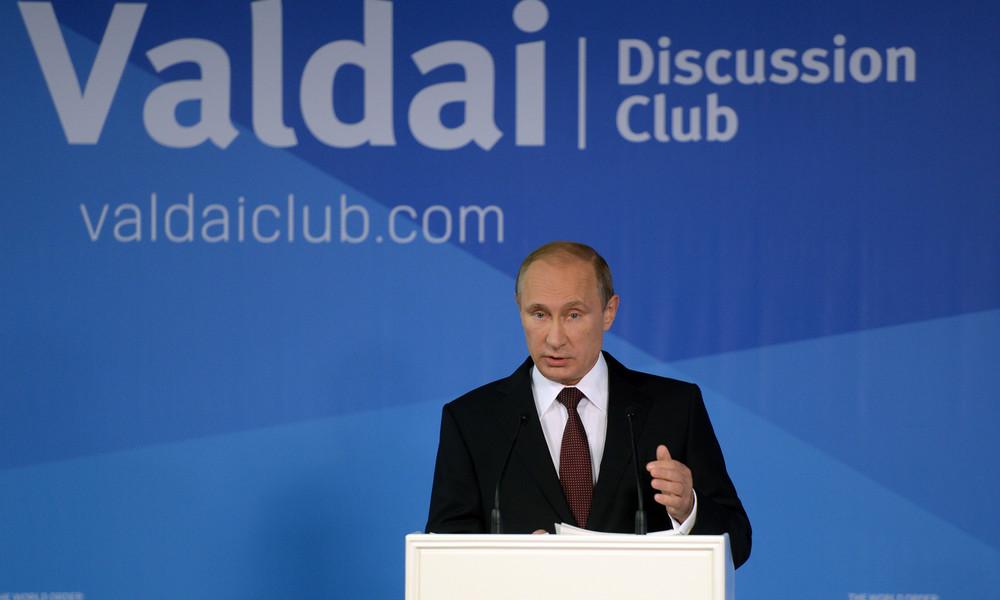 """LIVE: Wladimir Putin spricht im Waldai-Klub zu """"Lehren aus der Pandemie und eine neue Agenda"""""""