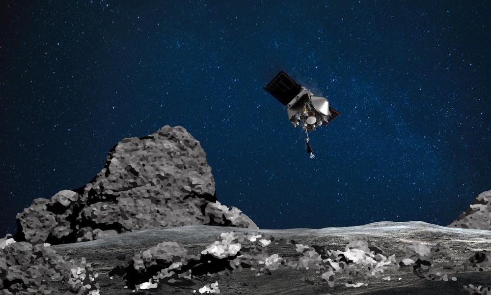 NASA-Sonde nimmt Bodenproben vom Asteroiden Bennu