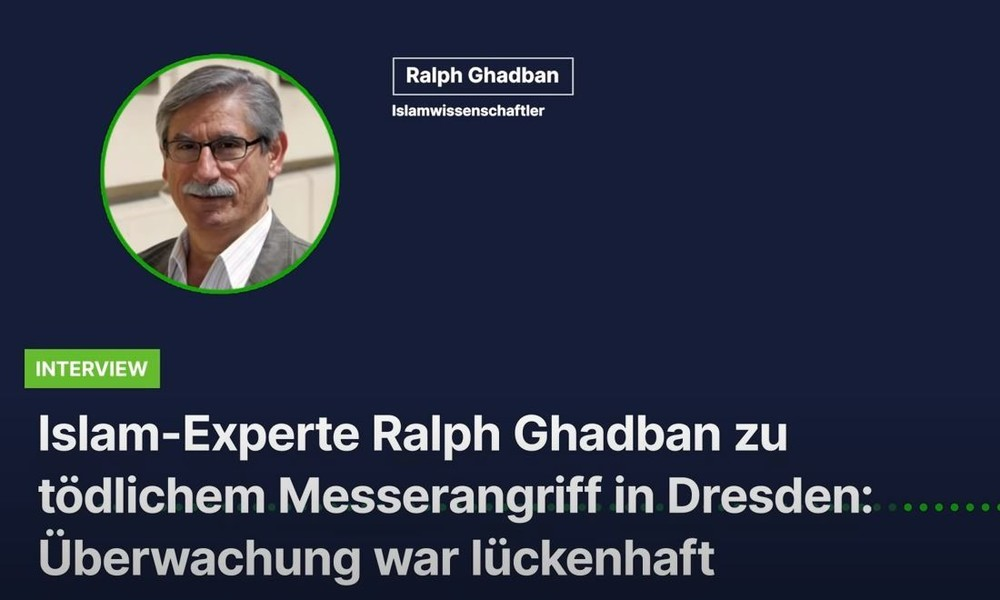 Islam-Experte Ghadban zu tödlichem Messerangriff in Dresden: Gefahr wird noch immer unterschätzt