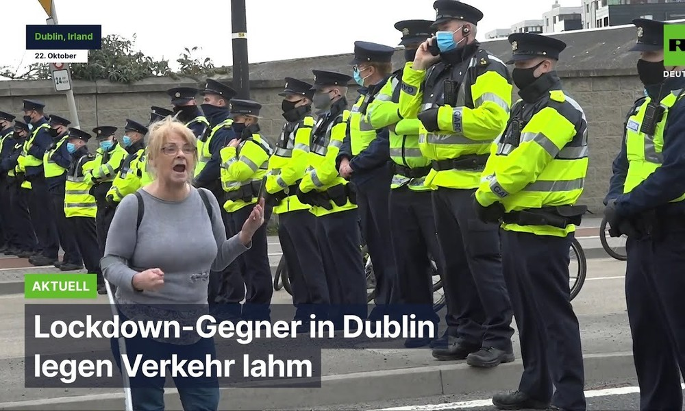Dublin: Lockdown-Gegner legen Verkehr lahm