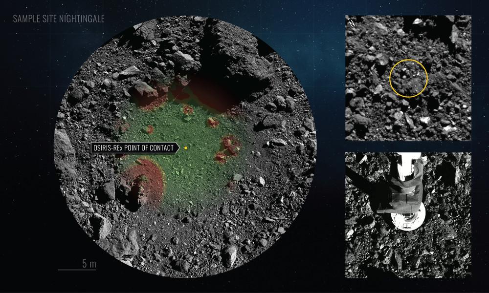 """NASA: Sonde """"Osiris Rex"""" entnimmt ausreichende Probe bei Asteroiden-Manöver"""
