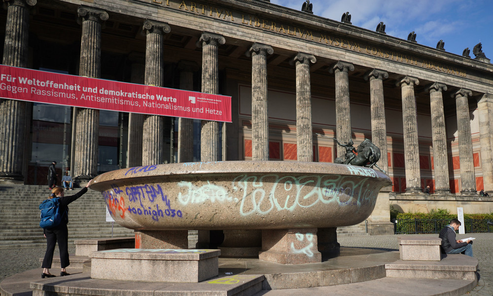 Erneut Vandalismus auf Berliner Museumsinsel