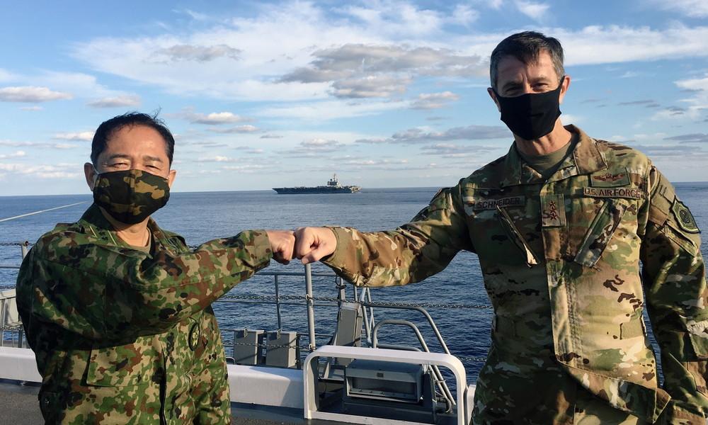 USA und Japan führen große Militärübungen in Gewässern vor China durch