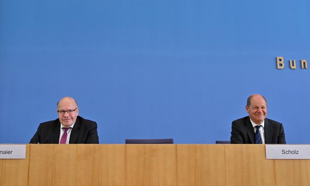 LIVE: Finanzminister Scholz und Wirtschaftsminister Altmaier geben Pressekonferenz zu Corona
