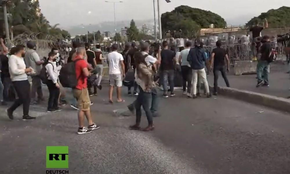LIVE aus Beirut: Gewaltsame Proteste wegen Mohammed-Karikaturen