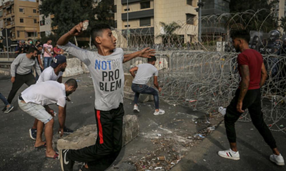 Proteste gegen Macron eskalieren in Beirut