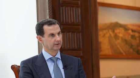 Syriens Präsident Baschar al-Assad während eines Interviews mit Russland 24 in Damaskus, 5. März 2020.