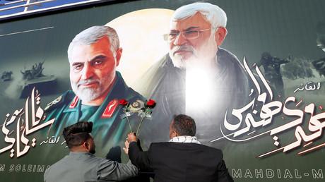 Die Stelle, an der Qassem Soleimani, der Oberkommandant der iranischen Quds-Einheit, und der irakische Milizenkommandant Abu Mahdi al-Muhandis bei einem US-Luftangriff auf dem Flughafen von Bagdad getötet wurden