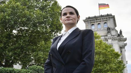 Die Oppositionsführerin Swetlana Tichanowskaja am 6. Oktober in Berlin.